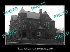 OLD 8x6 HISTORIC PHOTO OF BANGOR MAINE VIEW OF THE YMCA BUILDING v1910