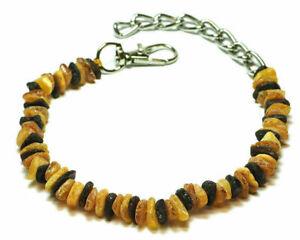 Halsband Hunden- Bernsteinkette Roh.100% Baltische Art: 011  ca: 23 - 56 cm.