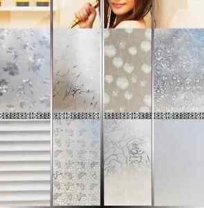 45CMx200CM PVC Frosted Privacy Frost Bedroom Bathroom Glass Window -Film Sticker