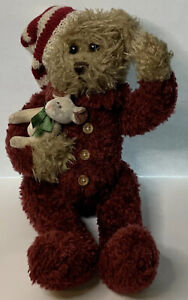 The Bearington Collection ~Twas the Night Before Christmas Bear Plush With Bunny