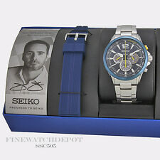 Authentic Seiko Men's Solar Jimmie Johnson Chronograph Watch SSC505 **SPECIAL**