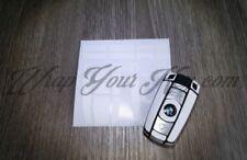 WHITE SATIN Key Wrap Cover Skin BMW Remote 1 3 4 5 6 E Series Z4 X1 X3 X5 X6 M