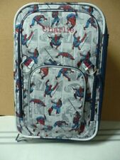 Pottery barn Kids Spiderman Large Suitcase Luggage rolling Charlie