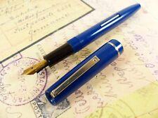 Blue Osmiroid Fountain Pen Medium Italic Nib