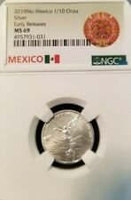 2019 MEXICO SILVER LIBERTAD 1/10 ONZA NGC MS 70 PERFECTION EARLY RELEASES !!!