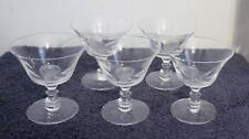5 Fostoria Etched Rose Cocktail Glasses