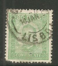 Portugal 1892-93 King Carlos 80r yellow green (74a) used