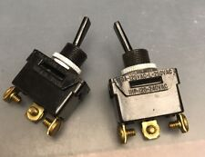 3 Pc 454 Eagle Toggle Switch On-On SPDT 1HP 20A New Screw Terminals Black