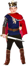 Medieval King Prince Boys Fancy Dress Costume Nativity Tudor Renaissance Royal 5 - 7 Years Eb-