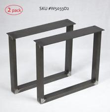 Steel coffee table legs / base U shape, 1 Pair 45cm/18'' wide 40cm/16'' tall