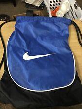 Nike Swoosh Drawstring Training Gymsack Backpack Navy Blue Black School Bag