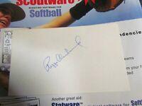 Reggie Cleveland autographed index card