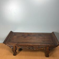 """24.4"""" Antique old China huanghuali wood Hand Carved cloud bat Tables"""