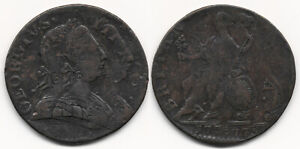 ^^A CLASSIC^^ DOUBLE STRUCK 1775 HALFPENNY (COLONIAL ERROR !!) NO RESERVE