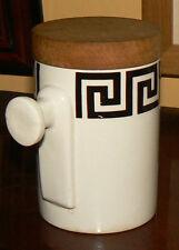 Vintage PORTMEIRION ' Greek Key - White ' Uncommon Spice Jar with Handle