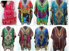 BULK LOT OF 10 PCS ASSORTED V-NECK KAFTAN SHORT LENGTH DRESS KIMONO WHOLESALE