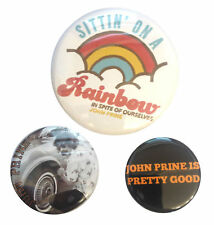 3 Official John Prine Sittin' On A Rainbow In Spite Of Ourselves Button Set