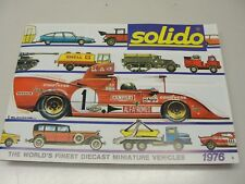 1976 SOLIDO CATALOG ALFA ROMEO LE MANS CARS TRUCKS MILITARY GOLDEN AGE 23 PAGES