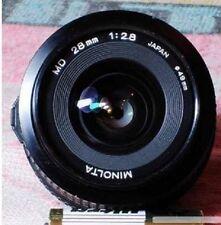 Minolta F2.8 28mm Wide Angle MD Lens X700 X570 X370 XD XGM XG9 XG7 XG1 SRT XE