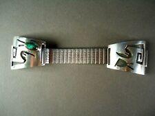 Wayne Sekaquaptewa Sterling Silver Watch Band w Turquoise Cabochon