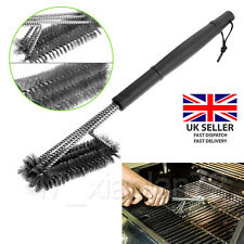 Barbecue Grill Cleaner 3 in 1 Steel Wire Heads BBQ Handle Cleaning Brush Tool