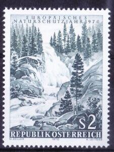 Waterfalls, Nature Conservation, Austria 1970 MNH