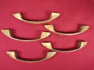 5 Antique Vintage Bronze Industrial Drawer Pulls Handles Filing Cabinet Desk