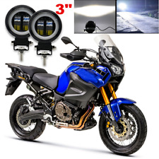 "2x 3"" 6500K Super Bright 20W LED Fog Light Motorcycle Driving Lamp Plug & Play"
