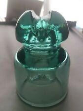 VERY RARE ICE BLUE GLASS SEDIVER E I V GLASS INSULATOR 05 DC 3