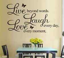 Creative Love Quote Live Laugh Home Decor Vinyl Decal Removable Art Wall Sticker