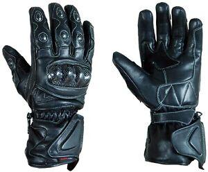 motorcycle motorbike G025 winter waterproof leather carbon knuckle long gloves