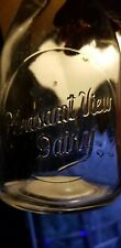 Embossed Pint Pleasant View Dairy Sherman NY