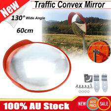 AU 60cm Blind Spot Convex Mirror Traffic Shop Driveway Garage Fixing Bracket Kit