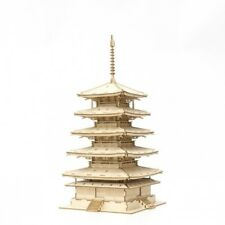 KIGUMI Ki-gu-mi Wooden Art - Five-Story Pagoda