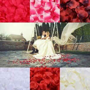 6 FARBEN ZUR AUSWAHL Rosenblätter Rosenblüten Rose 100 500 1000 Stück Hochzeit