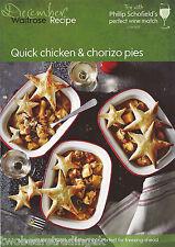 Recipe Card: Quick Chicken & Chorizo Pies (Waitrose)
