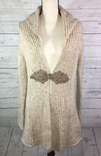 Soft Surroundings Chateau XS Knit Cardigan Duster Sweater Coat Wool Cashmere