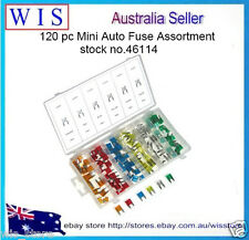 120 PC MINI CAR FUSE ASSORTMENT Set 6 Sizes 5 - 30 AMP Auto Parts Blade Fuse
