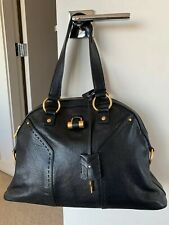 YSL Yves Saint Laurent MUSE Medium Black Leather Bag