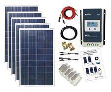 500w Solar Poly Panel Kit 24V MPPT controller battery charging cables bracket K4