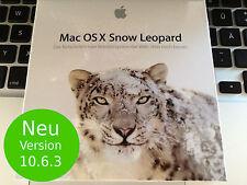 NEU Retail Apple Mac OS X 10.6 Snow Leopard Vollversion  - für alle Intel-MAC