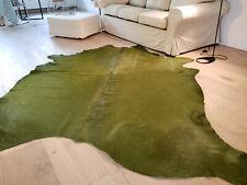 XXL Kuhfell grün gefärbt Stierfell Rindfell ca. 251cm x 243cm