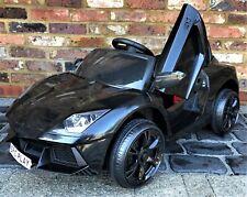 Kids Lamborghini Aventador Style Roadster 12V Battery Electric Ride on Car Black