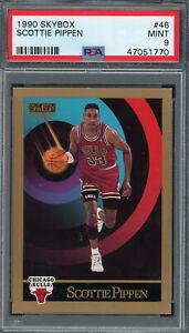 Scottie Pippen Chicago Bulls 1990 Skybox Basketball Card #46 Graded PSA 9 MINT