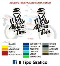 Kit 2 adesivi AFRICA TWIN Honda dakar enduro stickers decals tank parigi paris