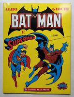 Albo Giochi BATMAN e SUPERMAN Play Press 1989