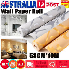 Wall Paper Roll Decal Damask Embossed Feature Textured Wallpaper Home Decor 10M