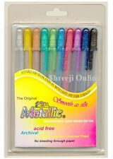 10 x Sakura Gelly Roll Gel Pen METALLIC Set ASSORTED 10 COLOUR SET - Best Price