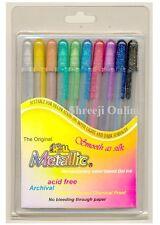 10 x Sakura Gelly Roll Gel Pen METALLIC Set ASSORTED 10 COLOUR SET - Best Price