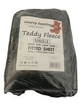 teddy fleece fitted sheet Single Charcoal Colour New Used Unwanted Cosy Soft